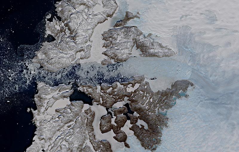 Satellitenbild: Jakobshavn-Gletscher auf Grönland