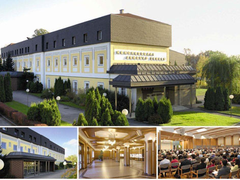 Das Verwaltungs- und Kongressgebäude der Zeugen Jehovas in St. Pölten