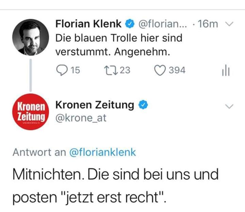 Krone-Klenk Tweet