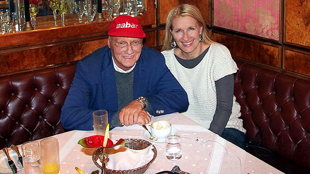Niki Lauda und Claudia Stöckl
