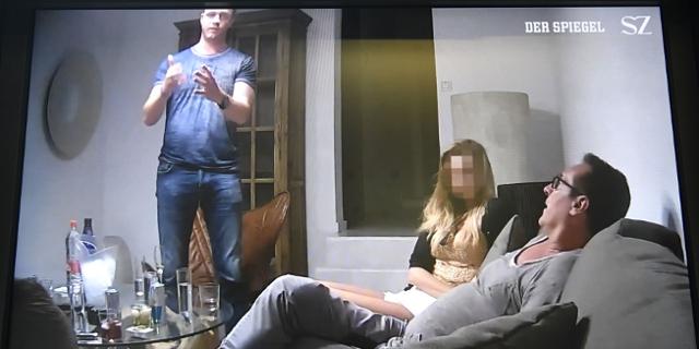 """Eins Szene aus dem belastenden """"Ibiza - Videos"""" in der Causa Strache , das dem Spiegel und der Süddeutschen Zeitung zugespielt wurde, aufgenommen am Samstag, 18. Mai 2019"""