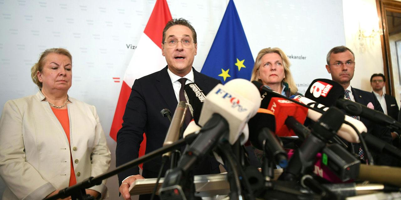HC Strache und die FPÖ Regierungsmannschaft