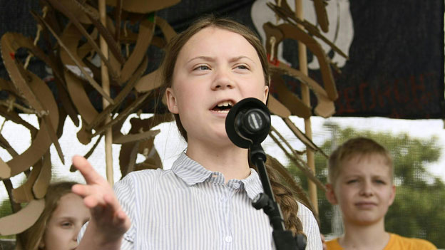 Greta Thunberg beim Klima-Streik
