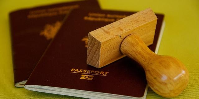 Passports mit Stempel