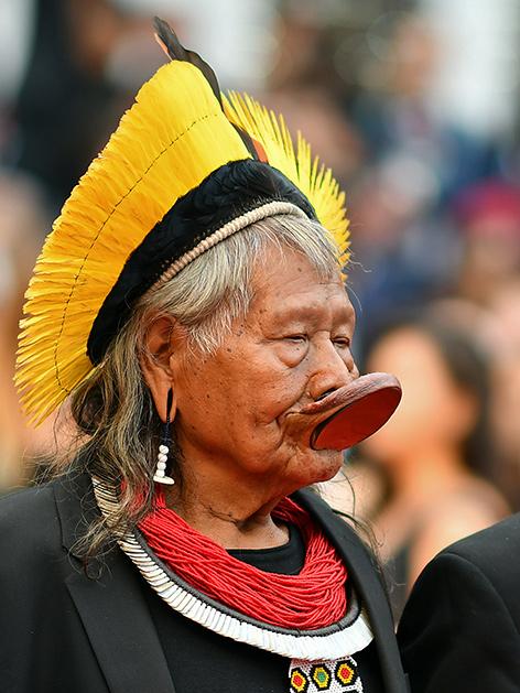 Raoni Metuktire ist Oberhaupt des Kayapo-Volkes im Amazonas-Gebiet