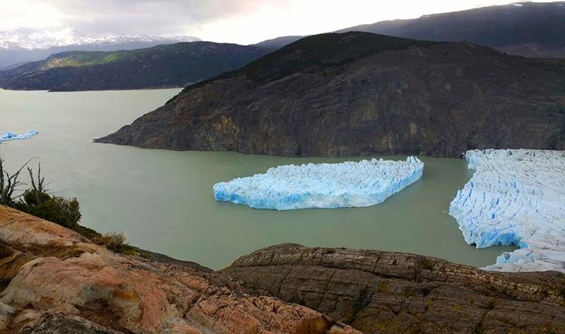 Gletschersee in chilenischem Nationalpark