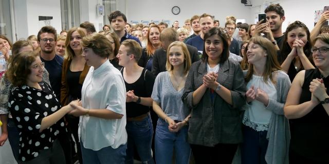 Publikum bei der ÖH Wahl 2019