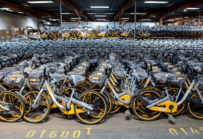 Leihfahrräder im Depot