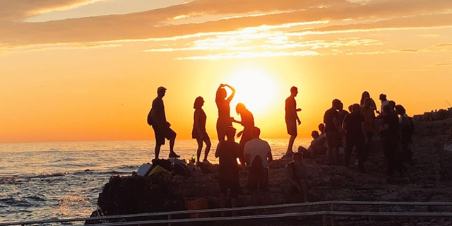 Sonnenuntergang beim Lighthouse Festival