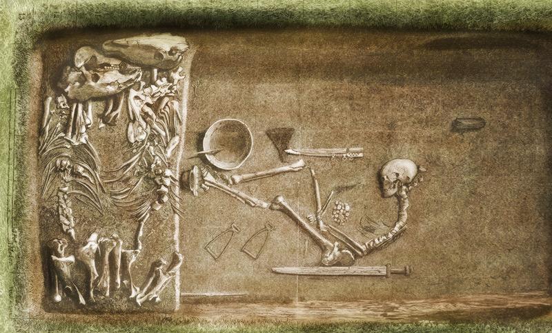 Das berühmte Grab BJ 581 in Birka