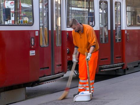 Angelo Fasching (MA 48 – Abfallwirtschaft, Straßenreinigung).