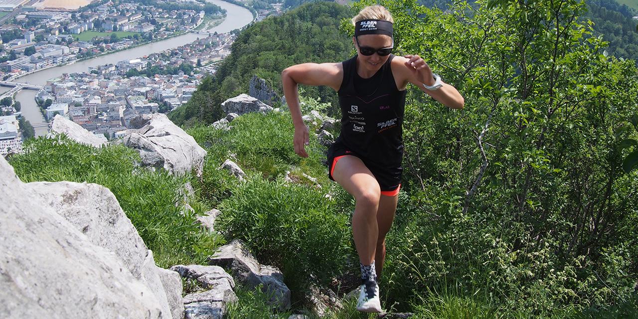 Sandra Koblmüller beim Laufen