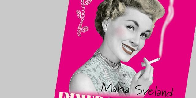 Buchcover mit rauchender Frau im Stil der 1950er Jahre