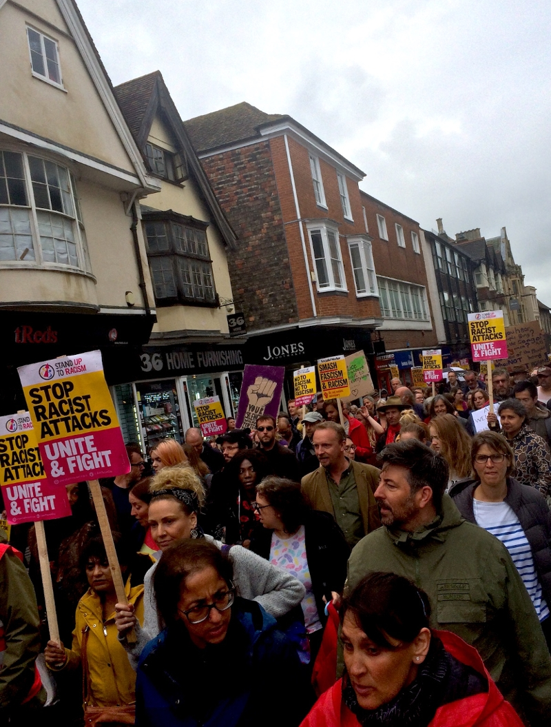 Anti-Rassismus-Demo in Canterbury