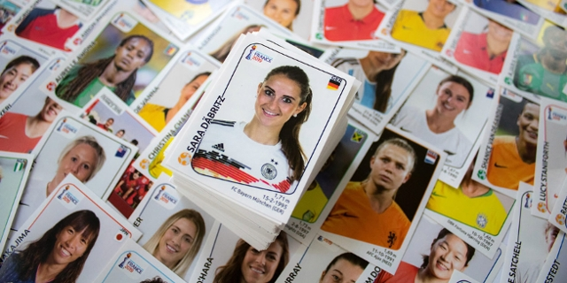 Panini-Sticker zur Frauen WM 2019