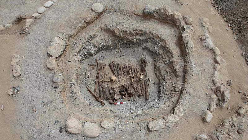 Grabstätte in China, in der verbranntes Cannabis gefunden wurde