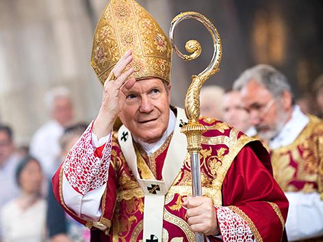 Kardinal Christoph Schönborn während des Pfingsthochamts am Sonntag, 9. Juni 2019, im Wiener Stephansdom