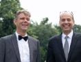 Preisträger Philipp Ther und Michael Wagner im Stadtpark