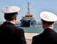 Das Sea-Watch 3-Schiff vor einem Hafen