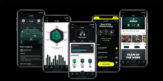 App-Screenshots von Tonsser