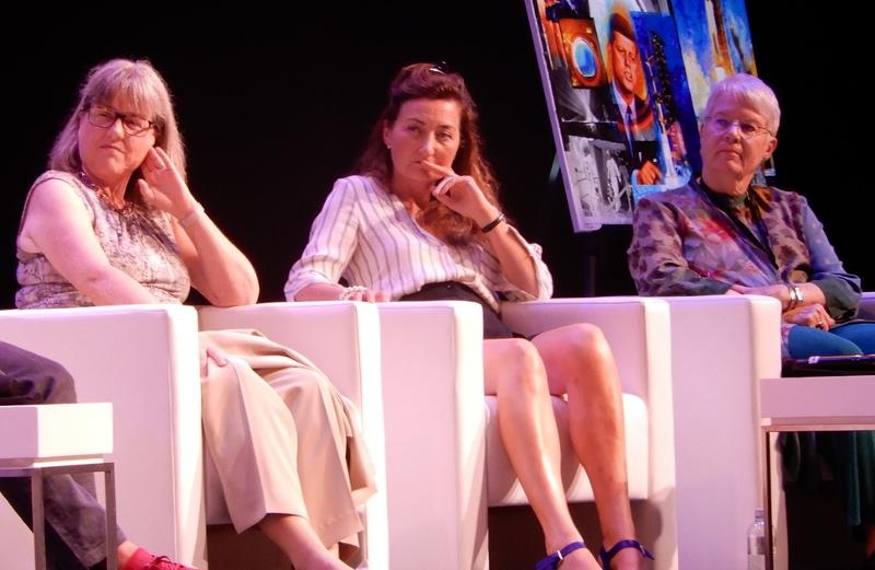Jill Tarter, May Britt Moser, Donna Strickland in a panel