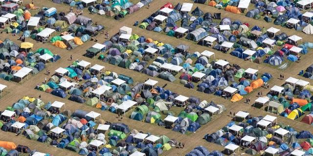 Roskilde Festival Luftaufnahmen des Geländes