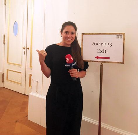 Veronika Kratochwil im Parlament
