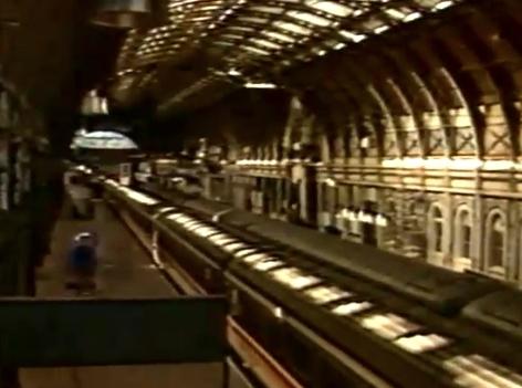 leerer Bahnhof in England wegen Streik