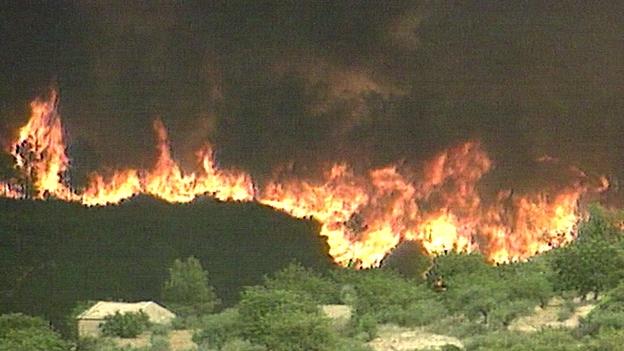 Waldbrand in Spanien