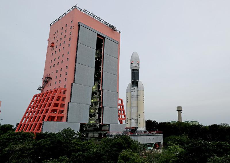"""Die Trägerrakete """"GSLV MarkIII-M1"""", die """"Chandrayyan-2"""" in den Weltraum bringen soll"""
