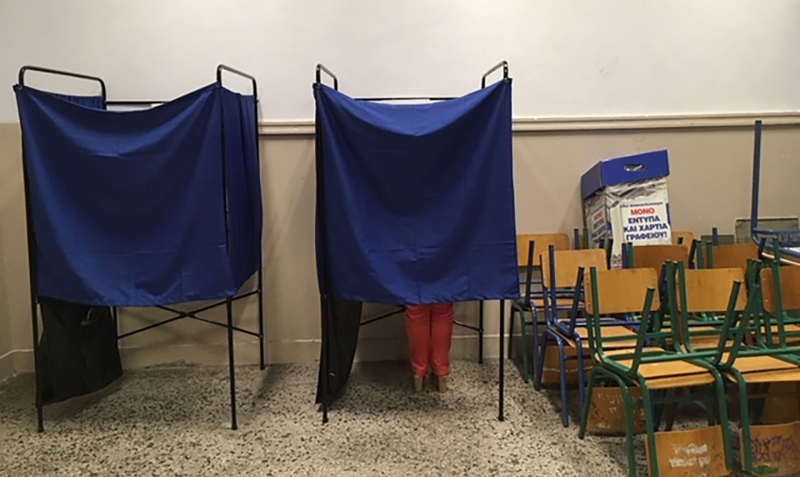 Wahllokal in Athen