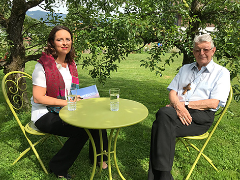 Sandra Szabo und Bischof Erwin Kräutler im ORF-Gespräch
