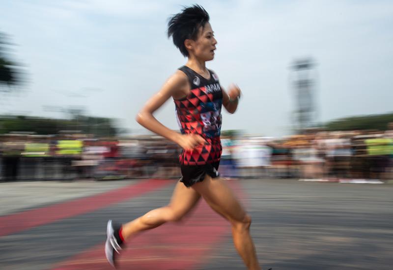 Japanische Marathonläuferin