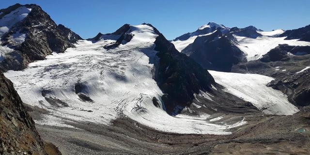Linker Fernerkogel mit Gletschern