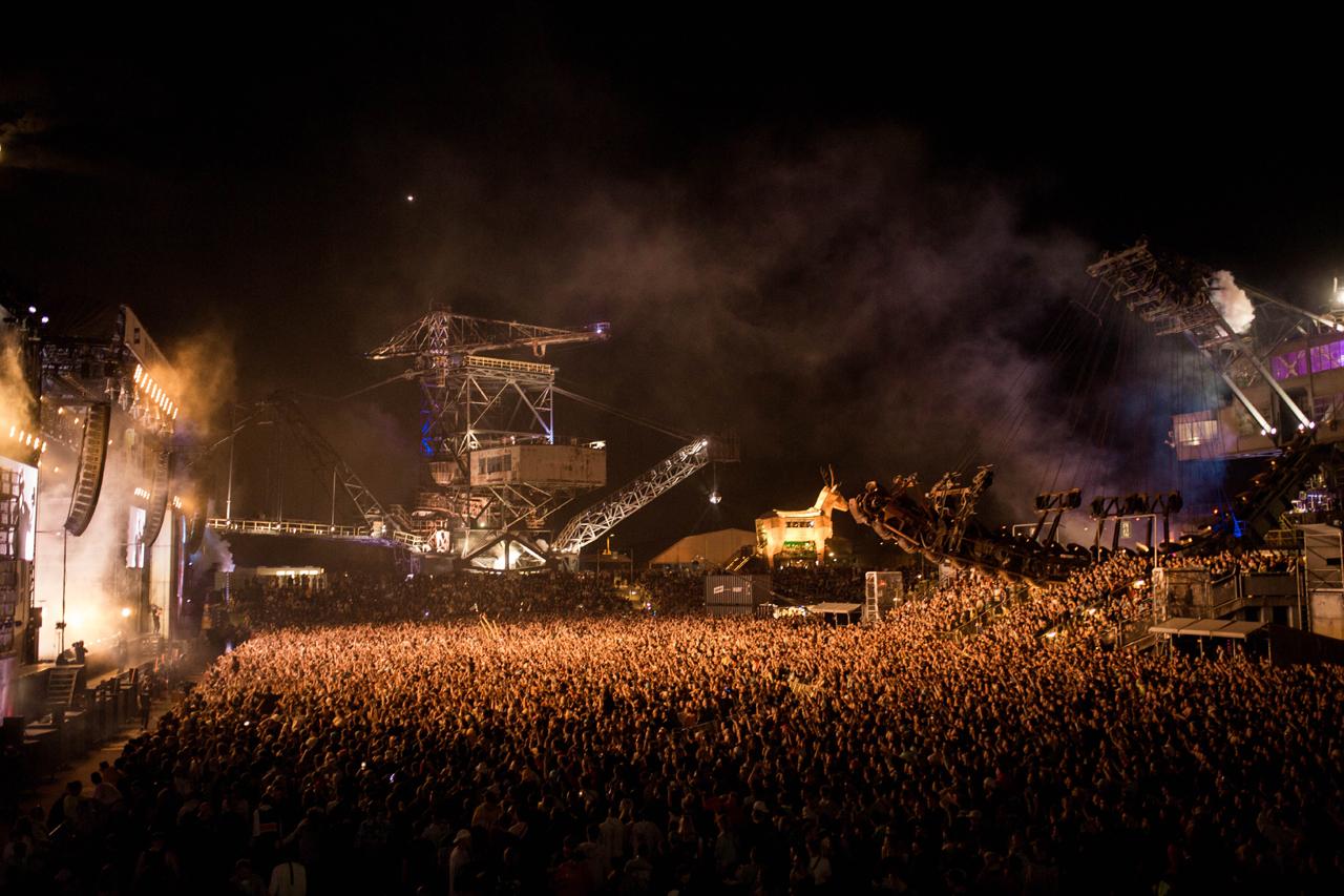 Die Arena: Festivalgelände