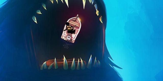 """""""Sea of Solitude"""": Das große Monster, in dessen Maul das Boot schwimmt."""