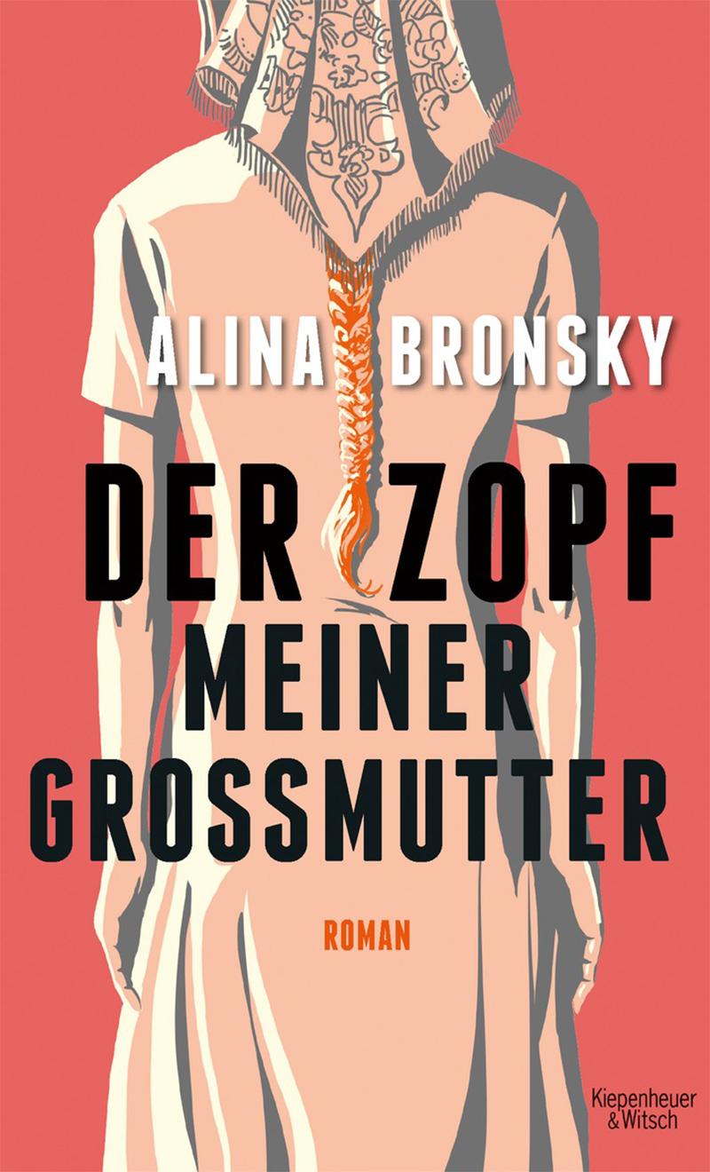 Buchcover mit Grafik: Frau mit Kopftuch und geflochtenem Zopf