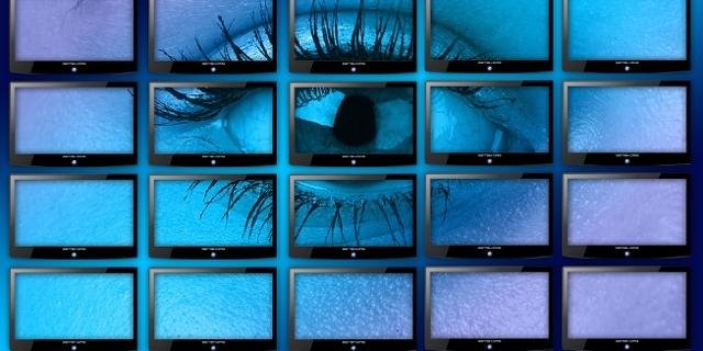 Auge auf Bildschirmen