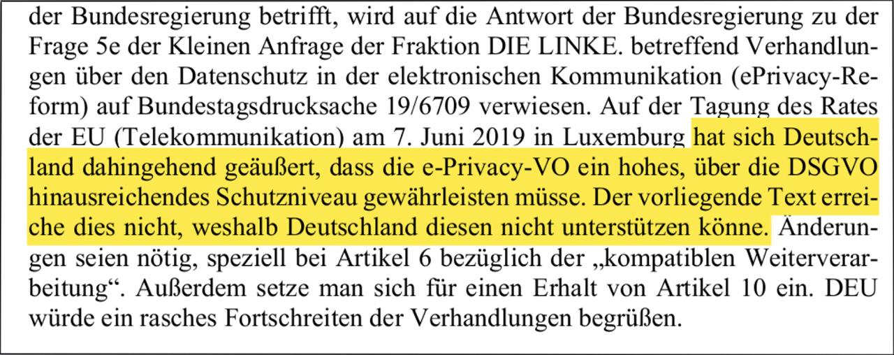 E-Privacy Verordnung