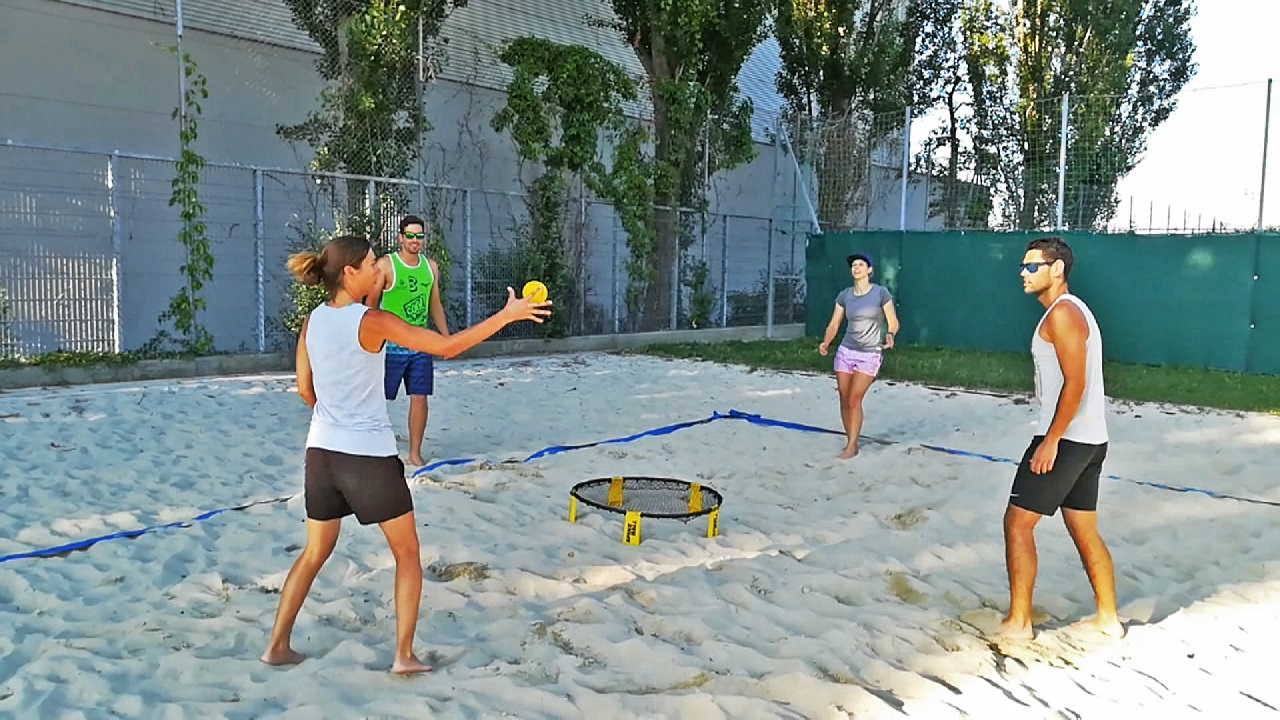 Spikeball in Action