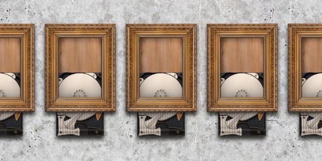 Fünf Banky-artig geschredderte Festplatten