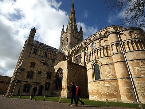 Kathedrale in Norwich, Großbritannien