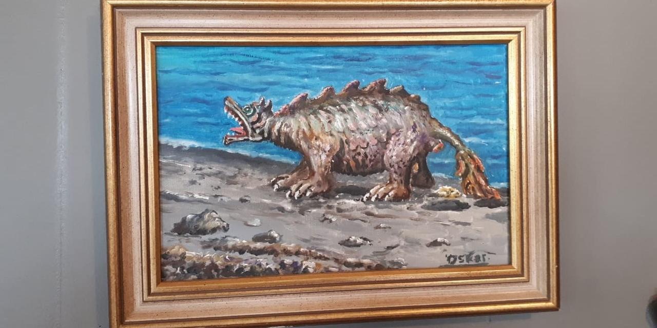 Painting @ Sea Monster Museum, Westfjords-1