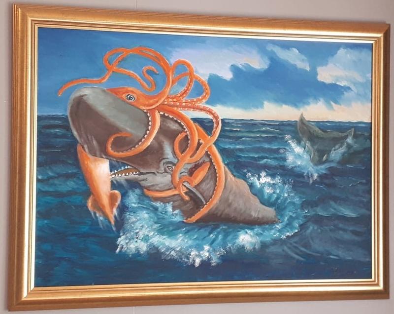 Painting @ Sea Monster Museum, Westfjords