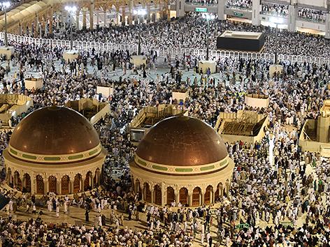 Die Große Moschee in Mekka beim Hadsch