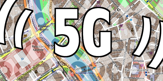 Straßenplan, Standort-Symbol, 5G