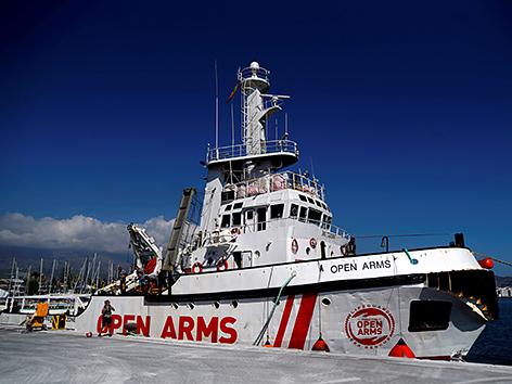 "Das NGO-Rettungsschiff ""Open Arms"""