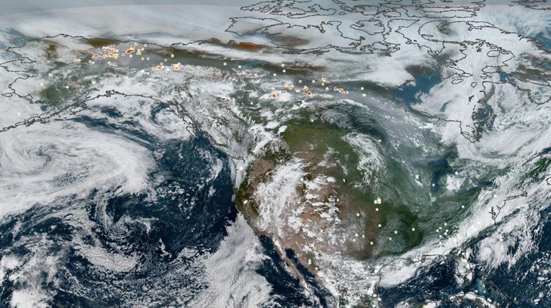 Luftaufnahme von Kanada und Alaska