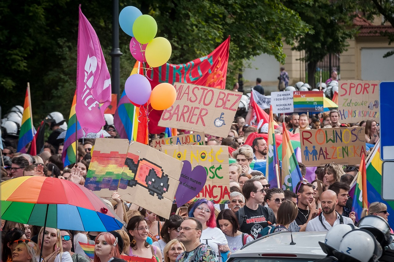 Der Equality March in Białystok am 20. Juli 2019.