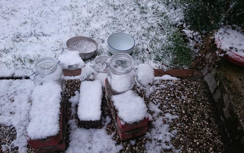 Schneeproben aus Bremen